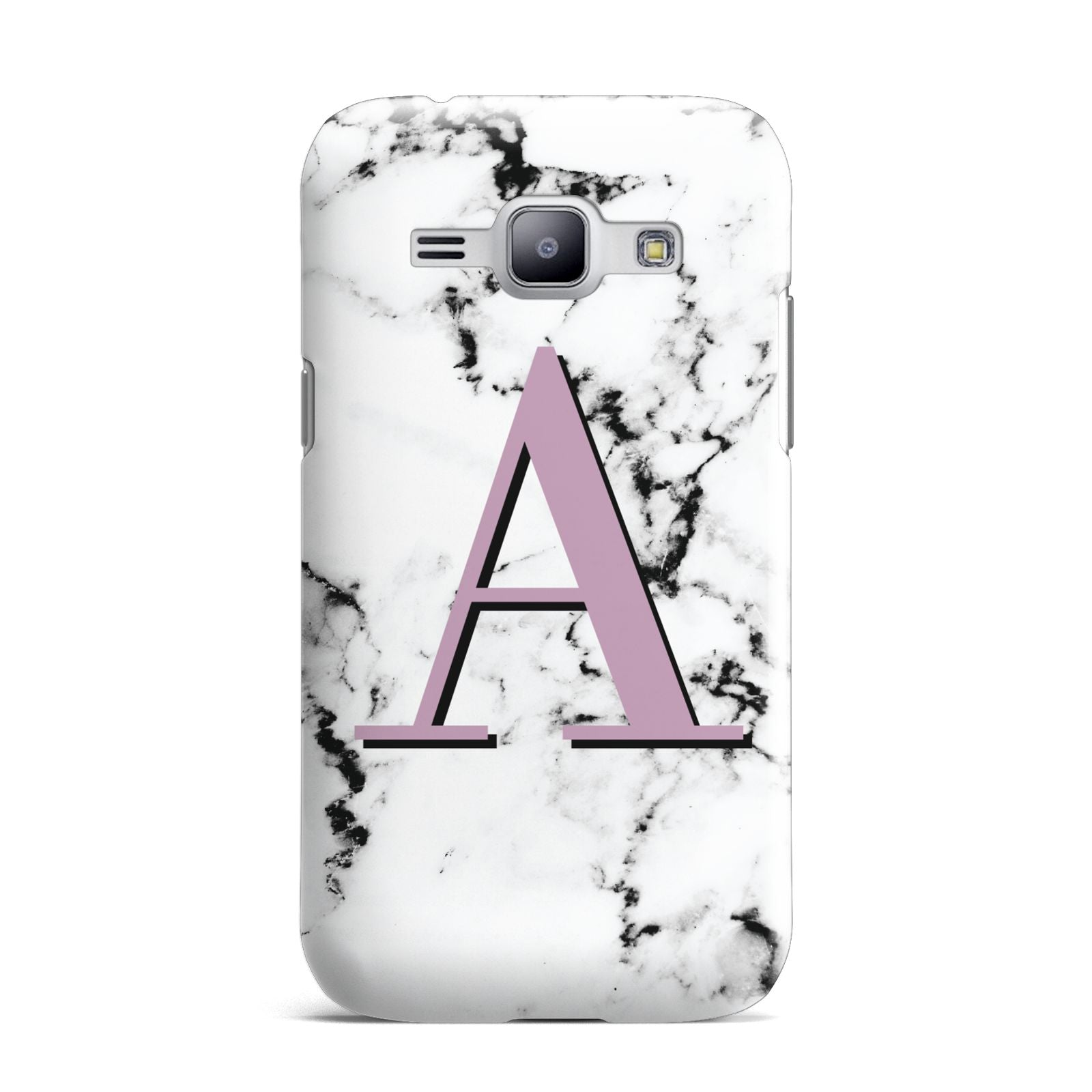 Personalised Purple Single Initial Marble Samsung Galaxy J1 2015 Case