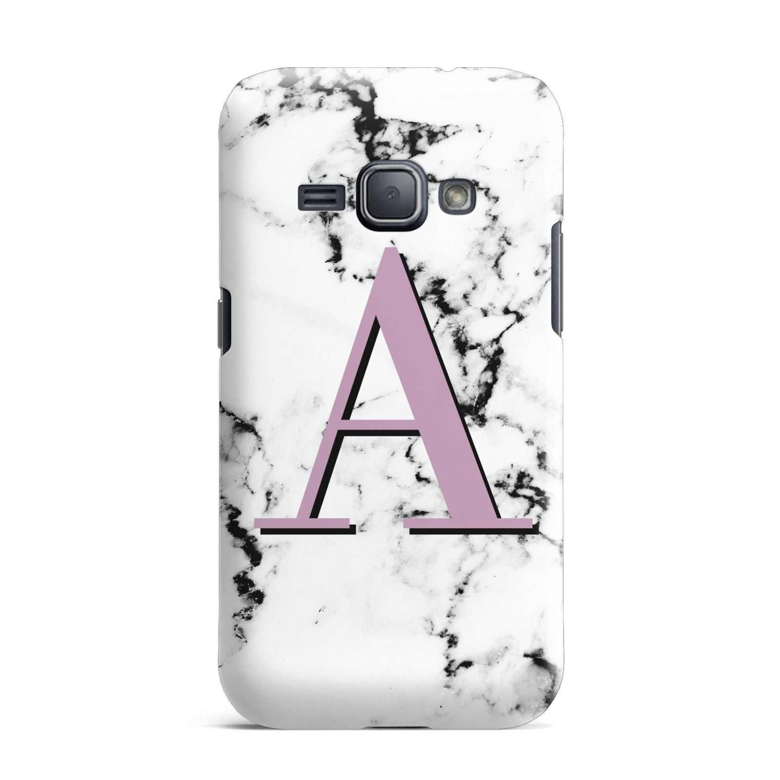 Personalised Purple Single Initial Marble Samsung Galaxy J1 2016 Case