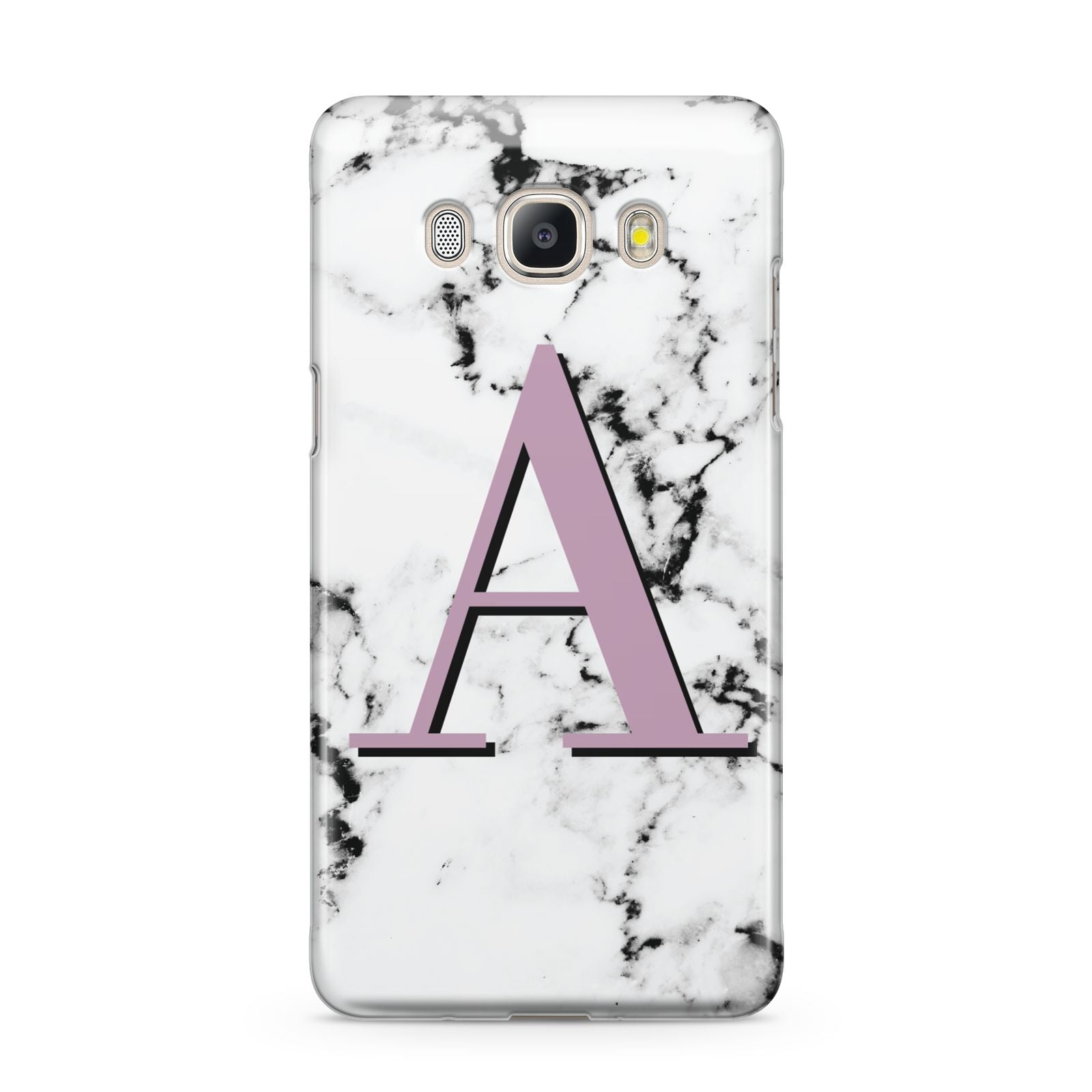 Personalised Purple Single Initial Marble Samsung Galaxy J5 2016 Case