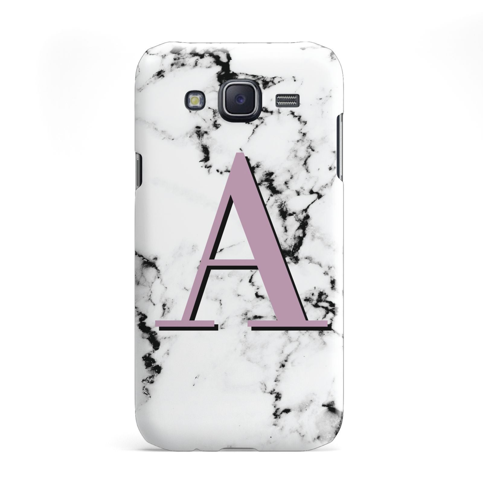 Personalised Purple Single Initial Marble Samsung Galaxy J5 Case