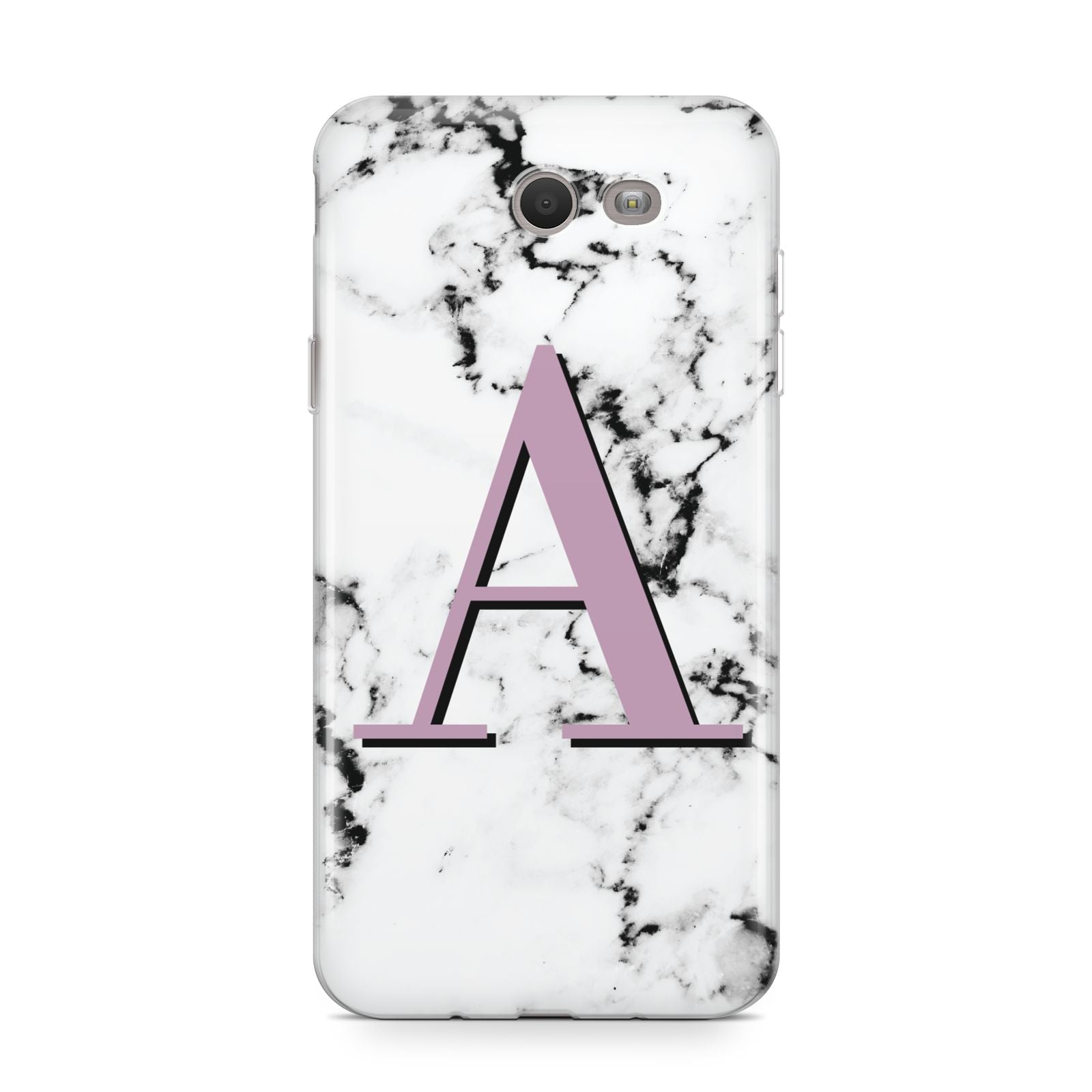 Personalised Purple Single Initial Marble Samsung Galaxy J7 2017 Case