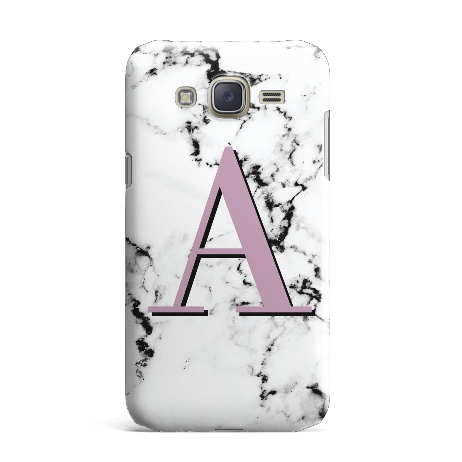 Personalised Purple Single Initial Marble Samsung Galaxy J7 Case