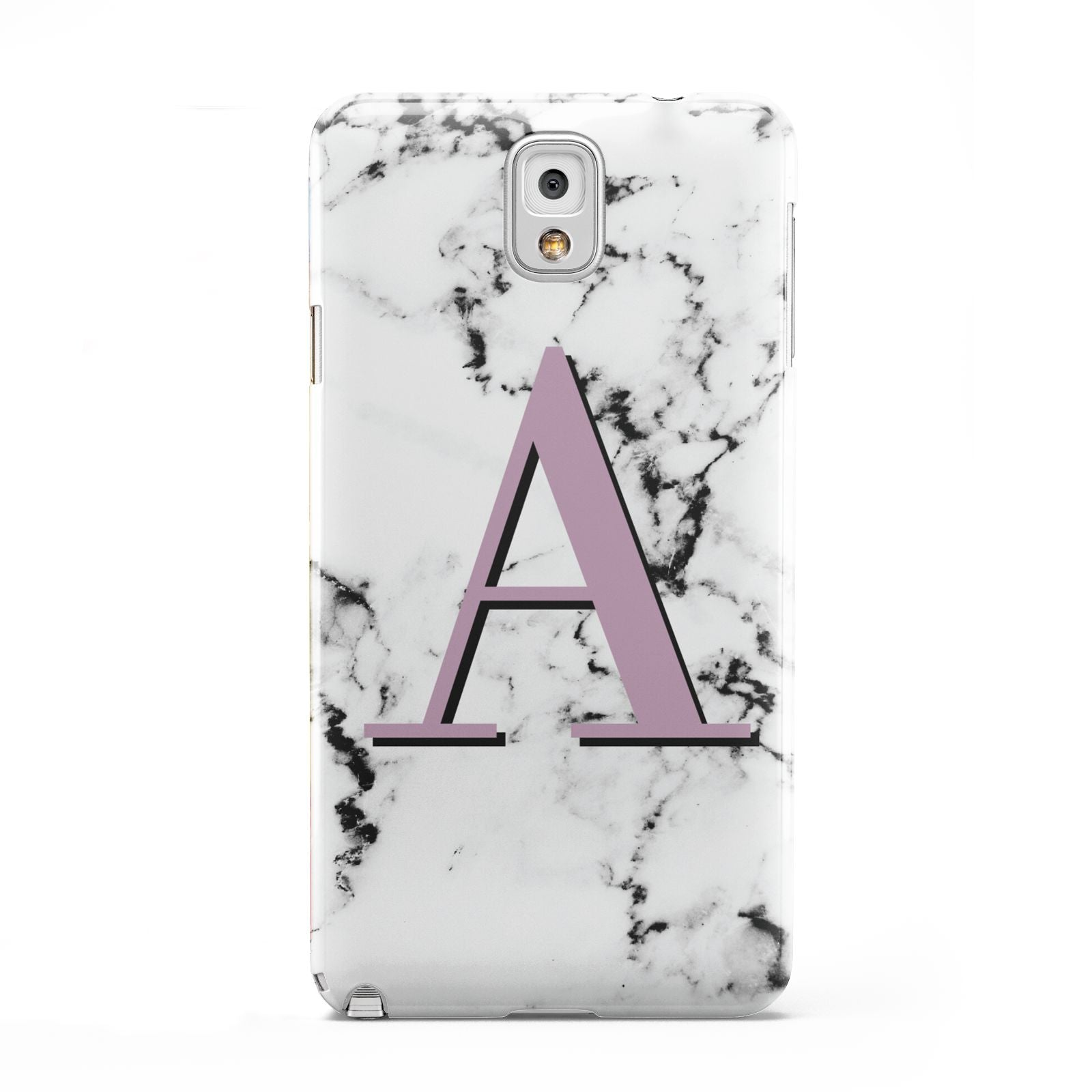 Personalised Purple Single Initial Marble Samsung Galaxy Note 3 Case