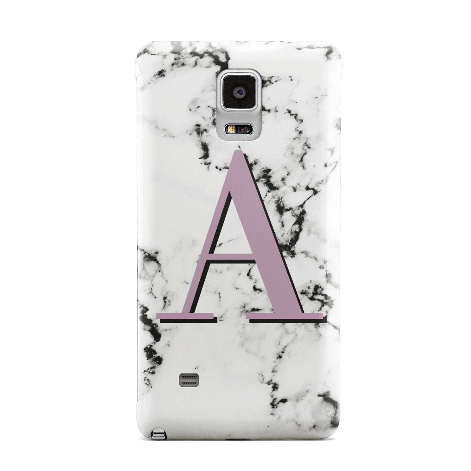 Personalised Purple Single Initial Marble Samsung Galaxy Note 4 Case