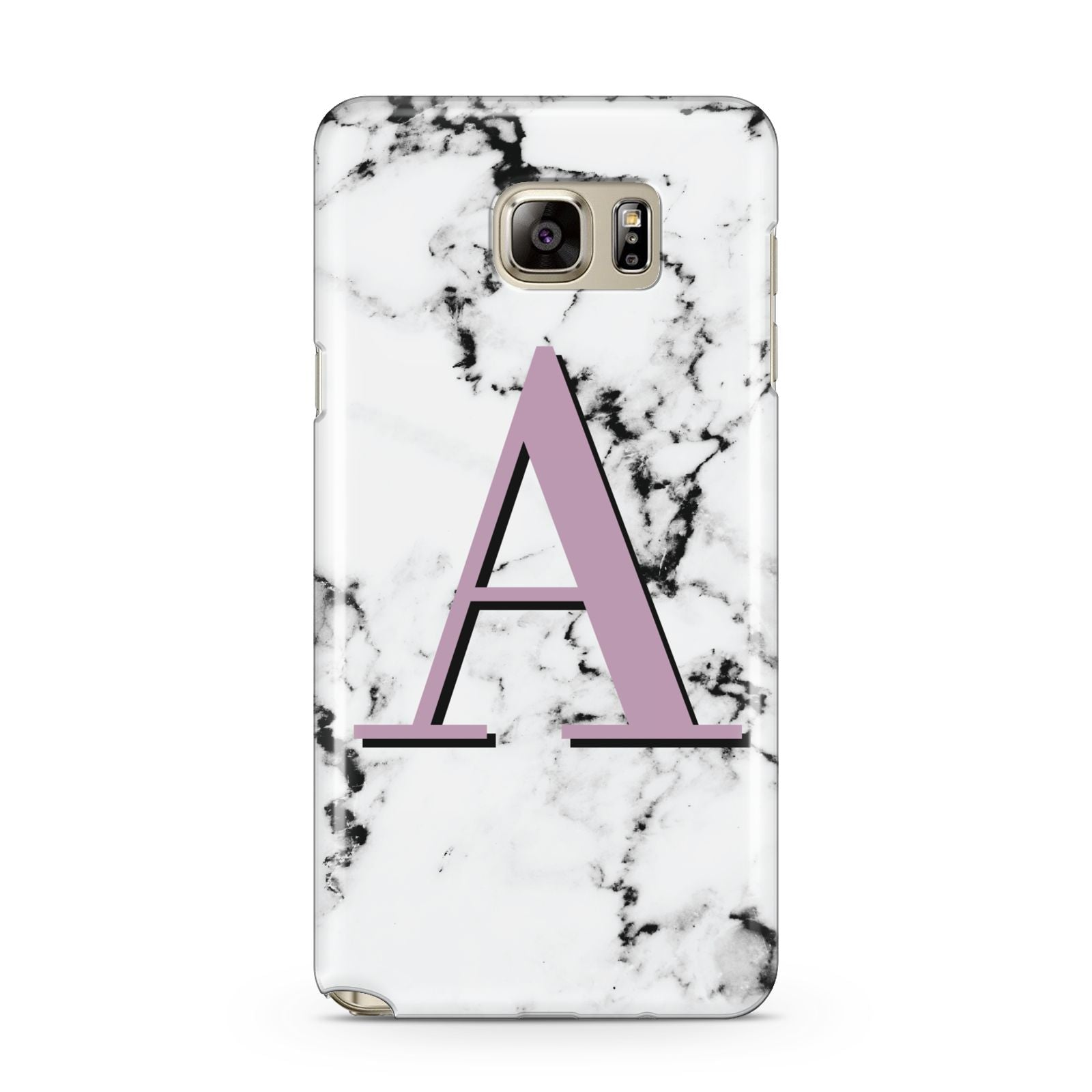 Personalised Purple Single Initial Marble Samsung Galaxy Note 5 Case