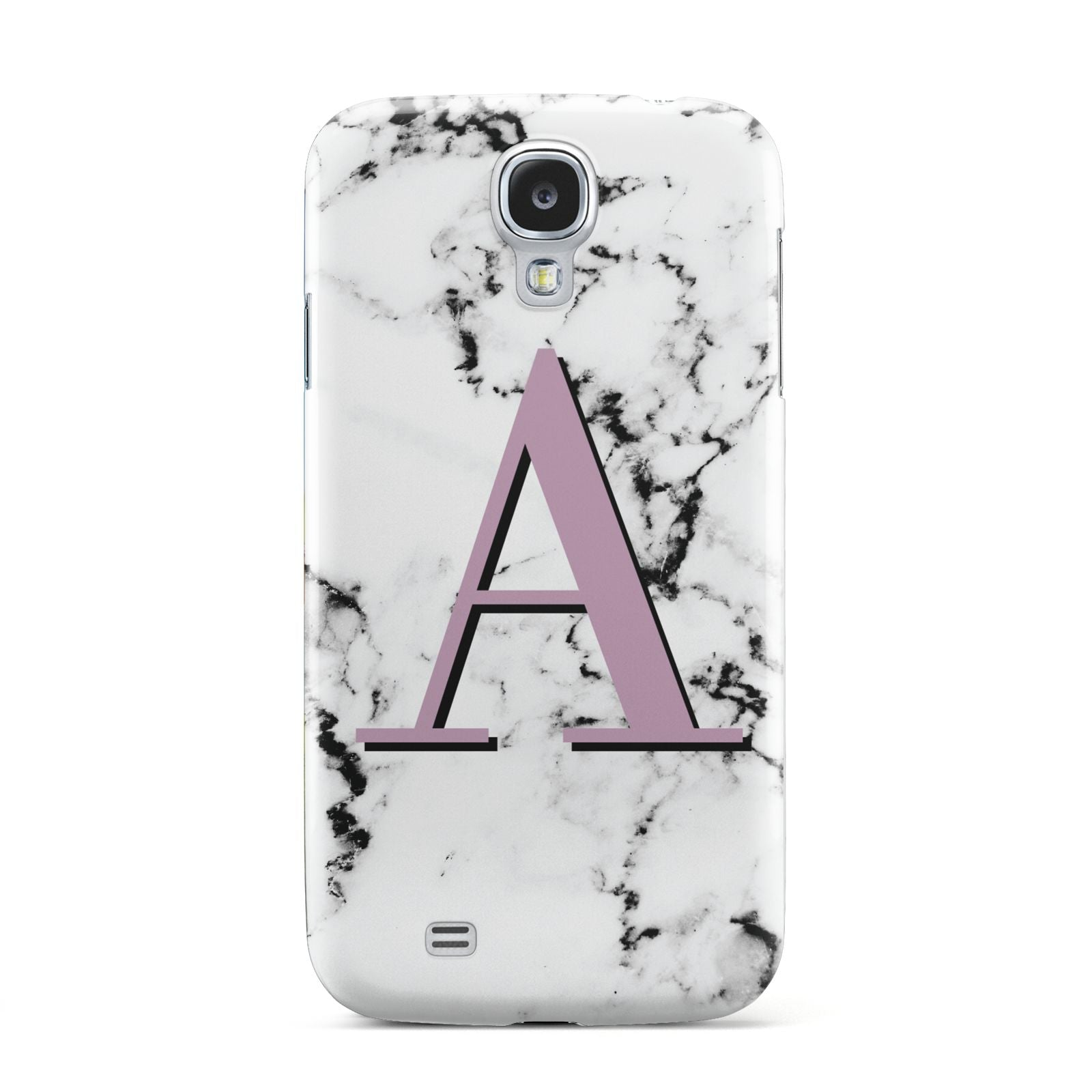 Personalised Purple Single Initial Marble Samsung Galaxy S4 Case