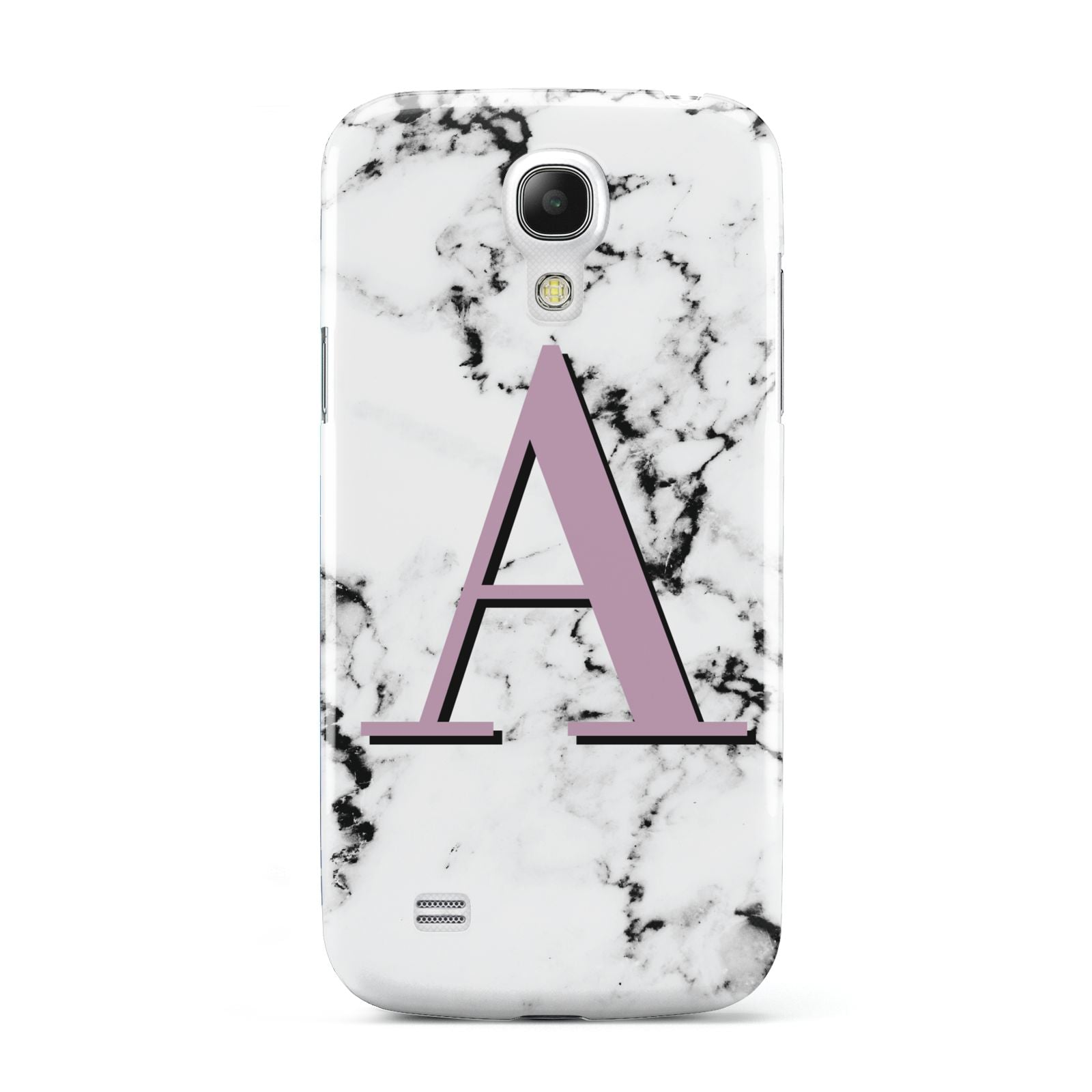 Personalised Purple Single Initial Marble Samsung Galaxy S4 Mini Case