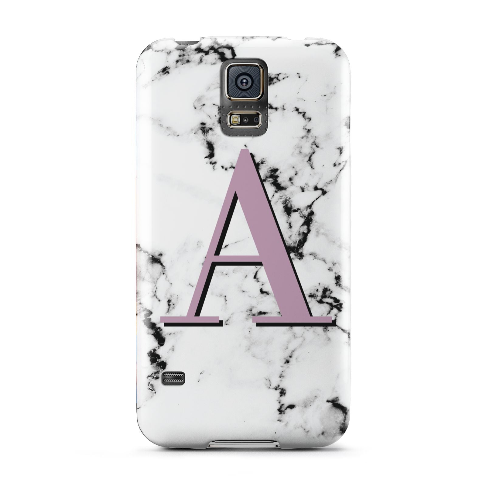 Personalised Purple Single Initial Marble Samsung Galaxy S5 Case