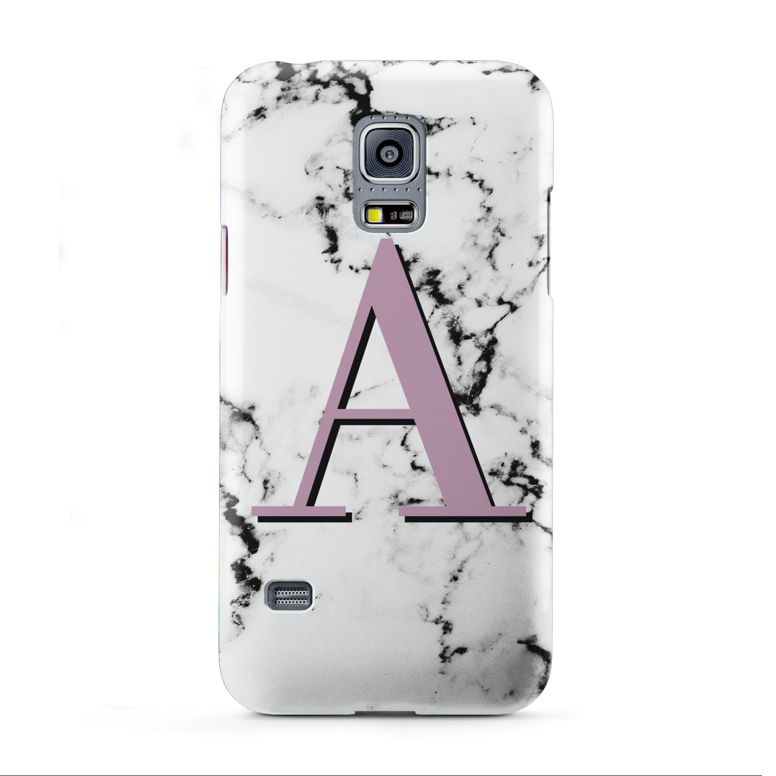 Personalised Purple Single Initial Marble Samsung Galaxy S5 Mini Case