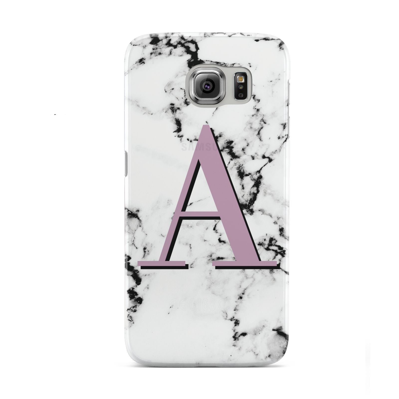 Personalised Purple Single Initial Marble Samsung Galaxy S6 Case