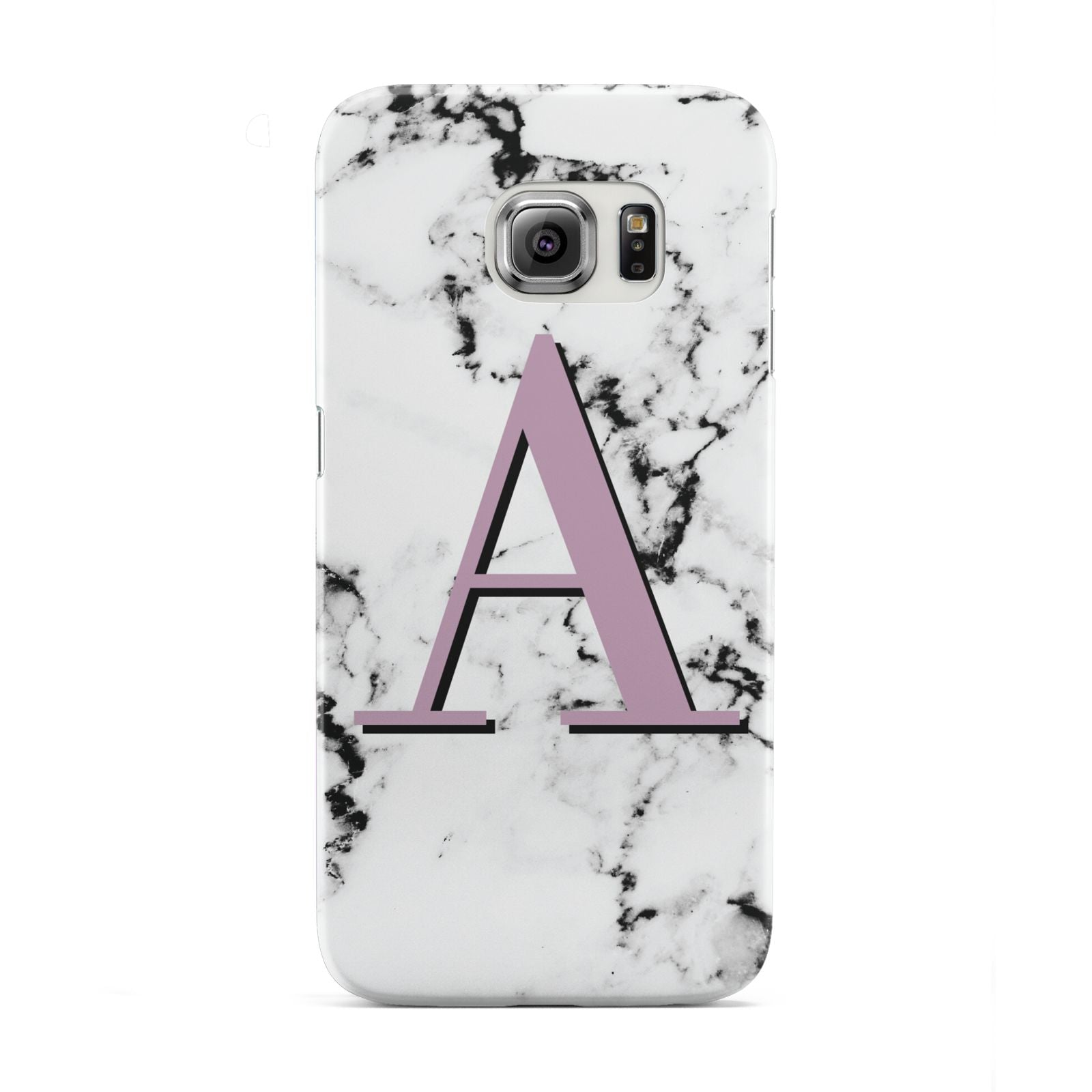 Personalised Purple Single Initial Marble Samsung Galaxy S6 Edge Case