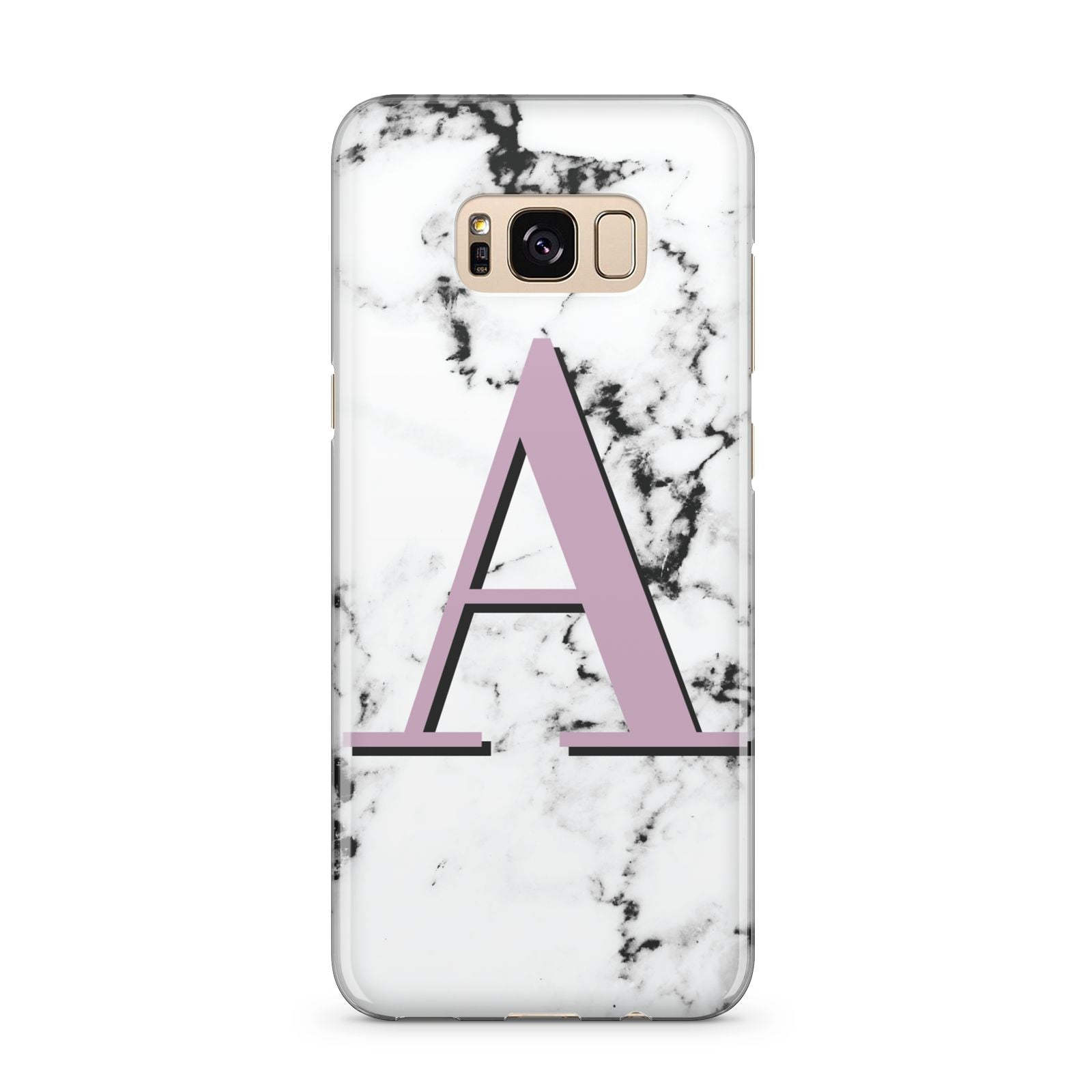 Personalised Purple Single Initial Marble Samsung Galaxy S8 Plus Case