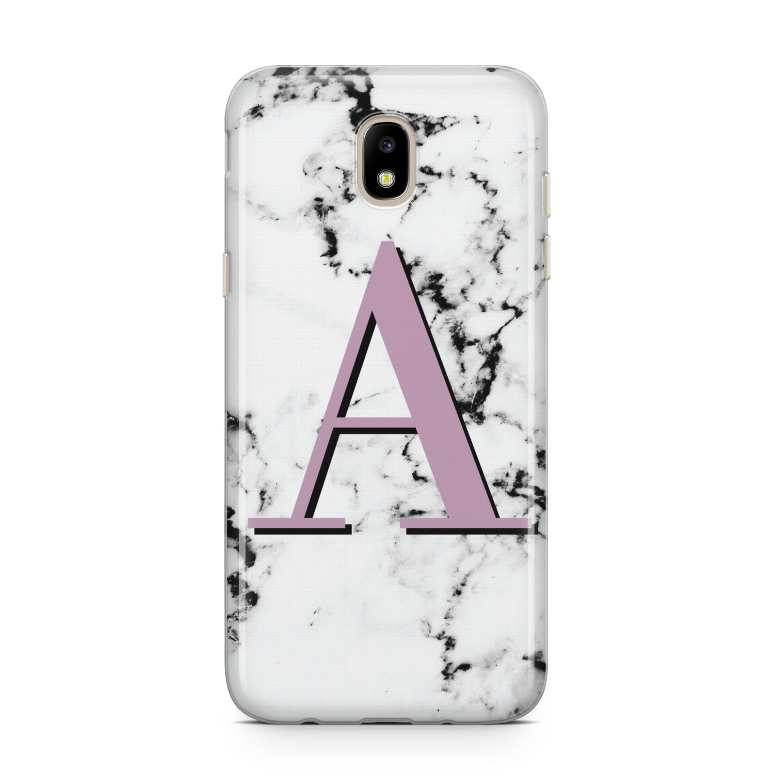 Personalised Purple Single Initial Marble Samsung J5 2017 Case