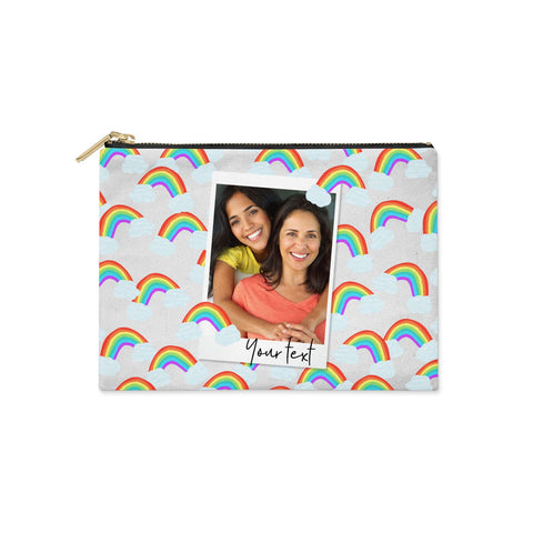 Personalised Rainbow Photo Upload Clutch Bag