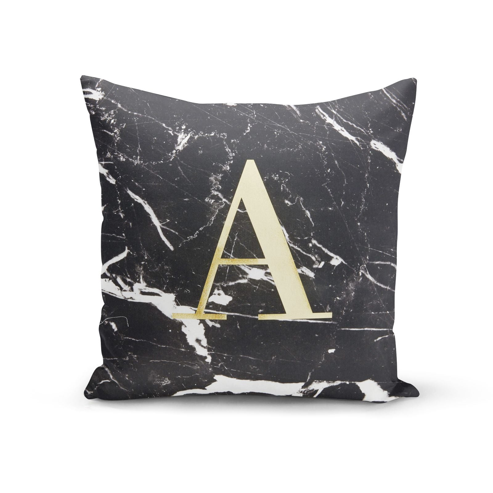 Personalised Real Gold Foil Marble Cushion Cotton Cushion