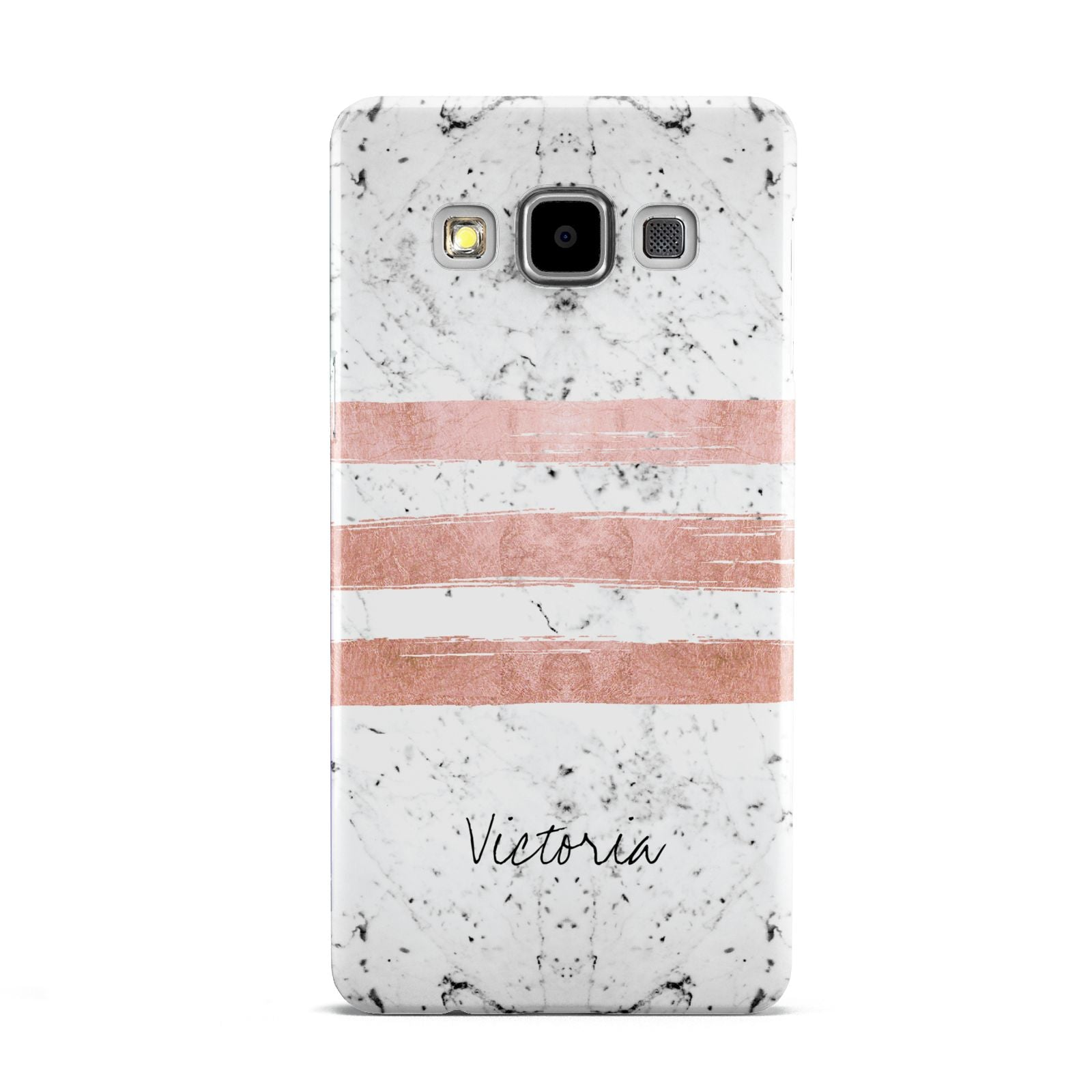 Personalised Rose Gold Brush Marble Initial Samsung Galaxy A5 Case