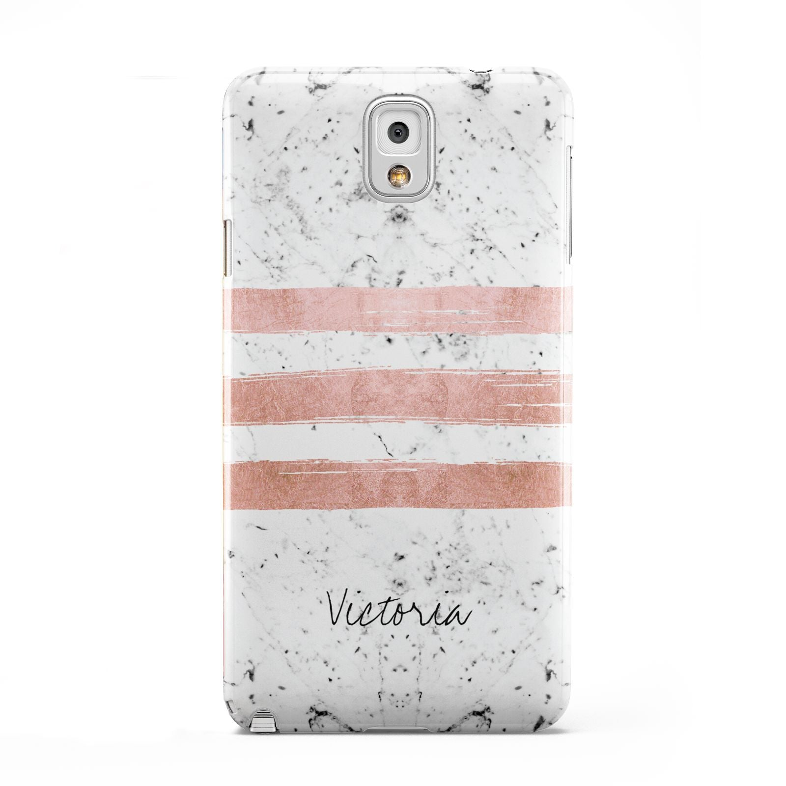 Personalised Rose Gold Brush Marble Initial Samsung Galaxy Note 3 Case