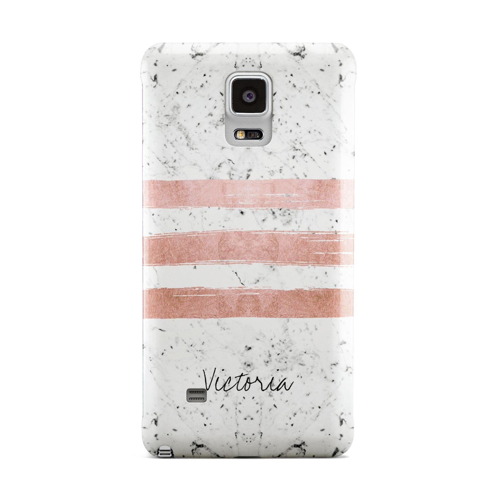 Personalised Rose Gold Brush Marble Initial Samsung Galaxy Note 4 Case