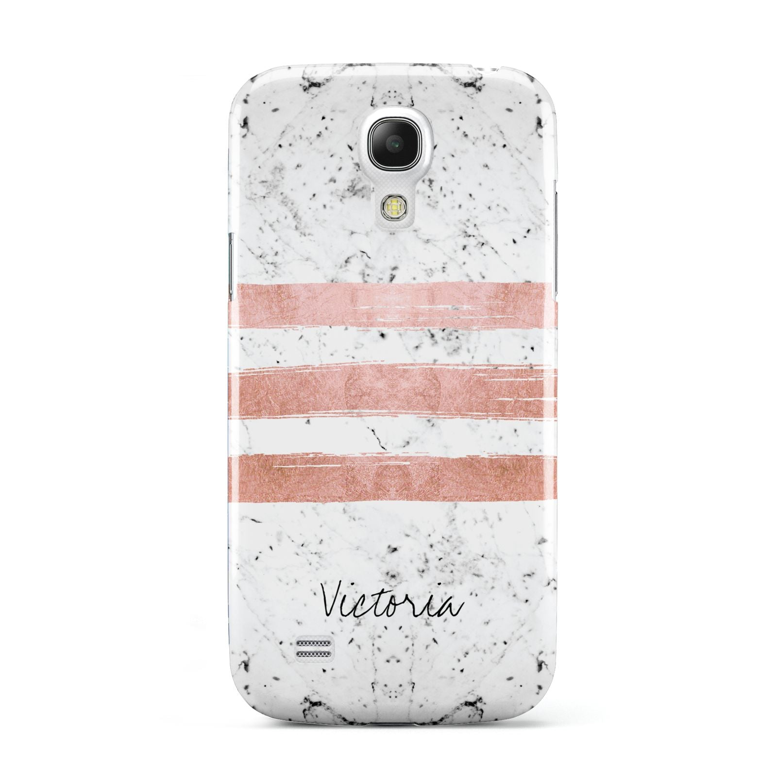 Personalised Rose Gold Brush Marble Initial Samsung Galaxy S4 Mini Case