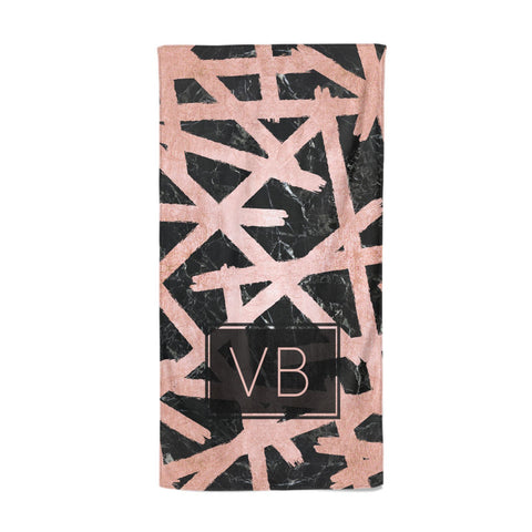 Personalised Rose Gold Effect Beach Towel