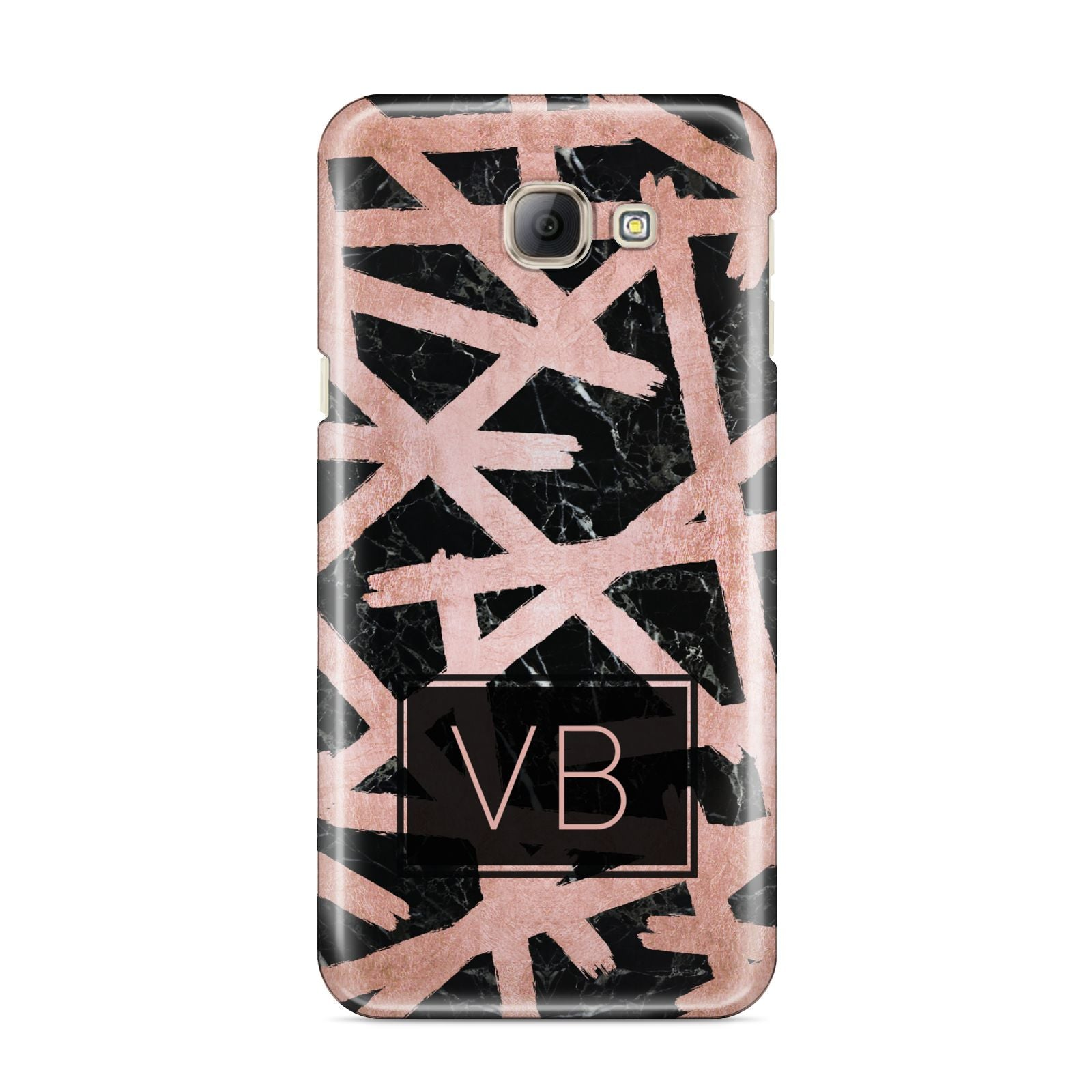 Personalised Rose Gold Effect Samsung Galaxy A8 2016 Case