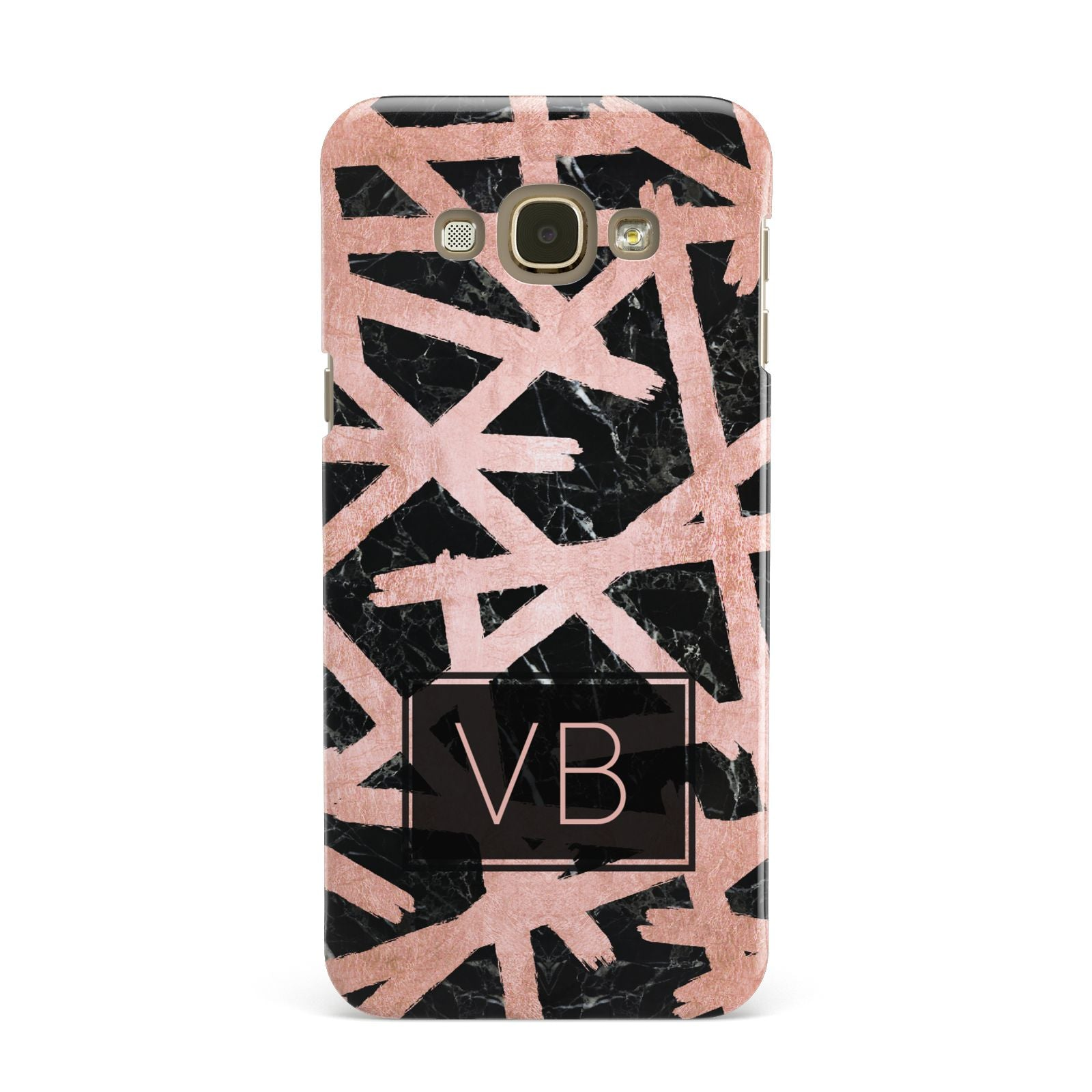 Personalised Rose Gold Effect Samsung Galaxy A8 Case