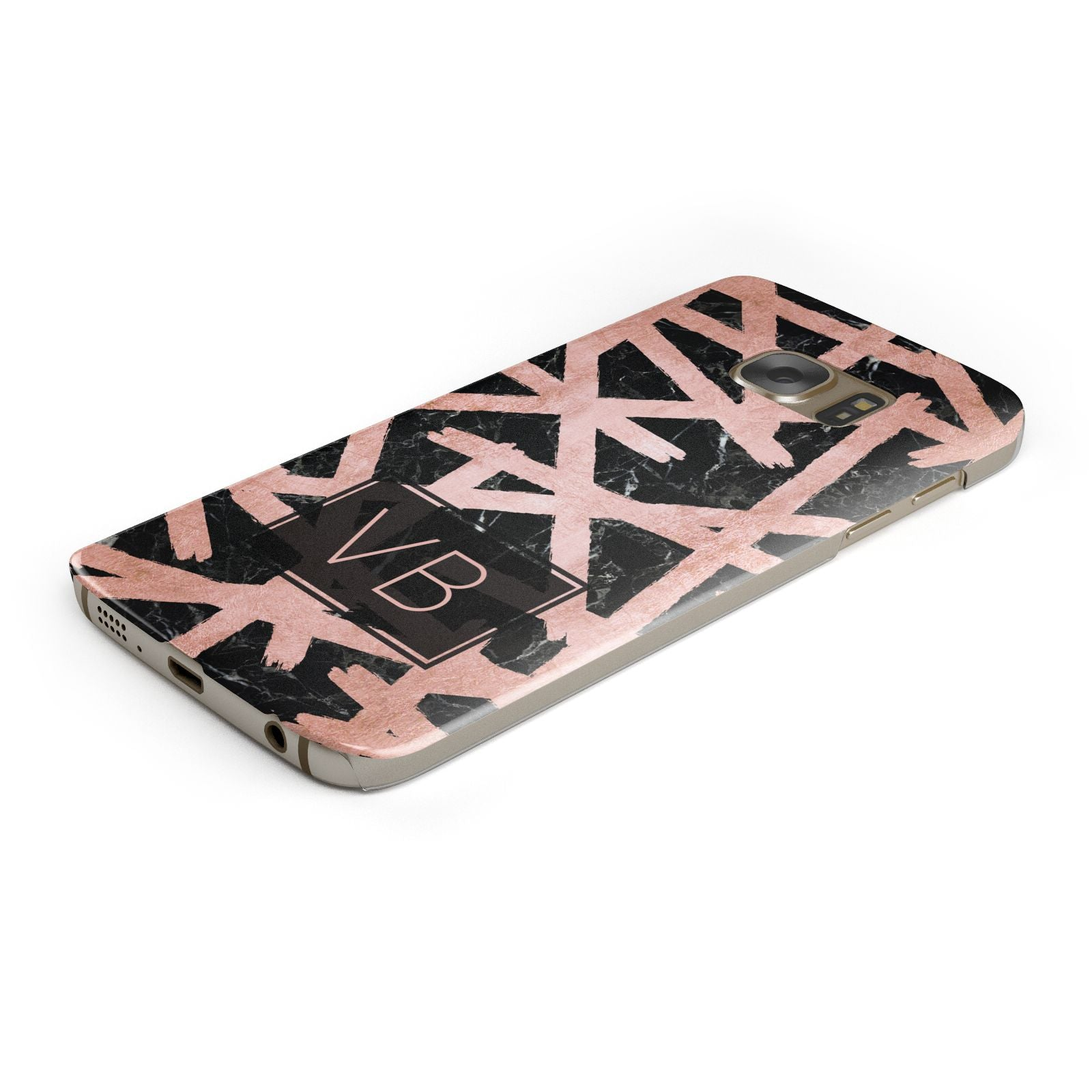 Personalised Rose Gold Effect Samsung Galaxy Case Bottom Cutout