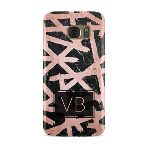 Personalised Rose Gold Effect Samsung Galaxy Case