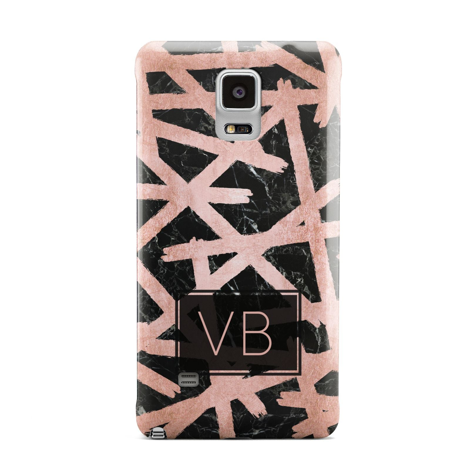 Personalised Rose Gold Effect Samsung Galaxy Note 4 Case