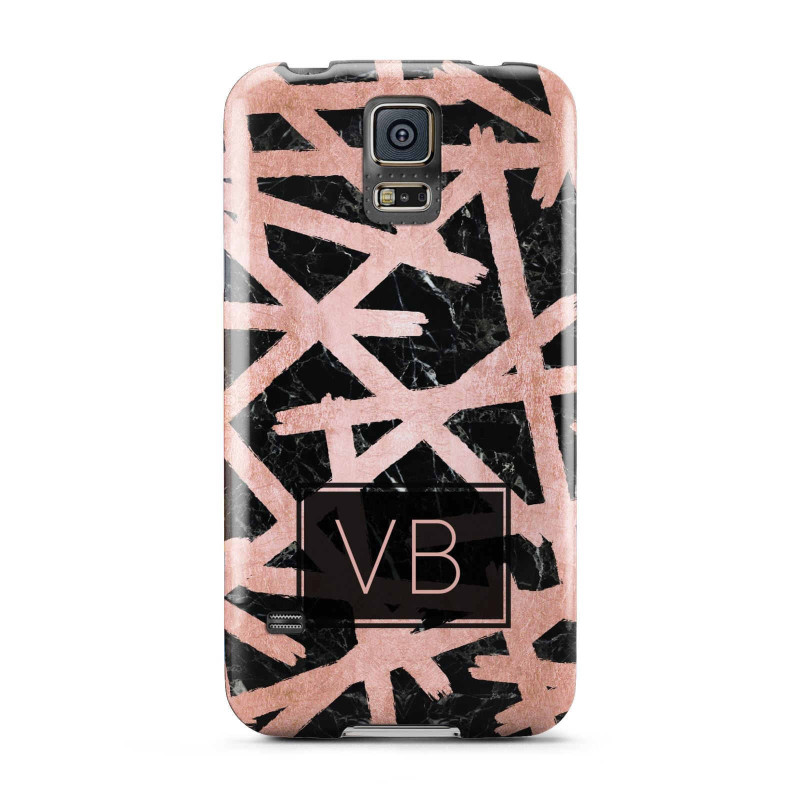 Personalised Rose Gold Effect Samsung Galaxy S5 Case