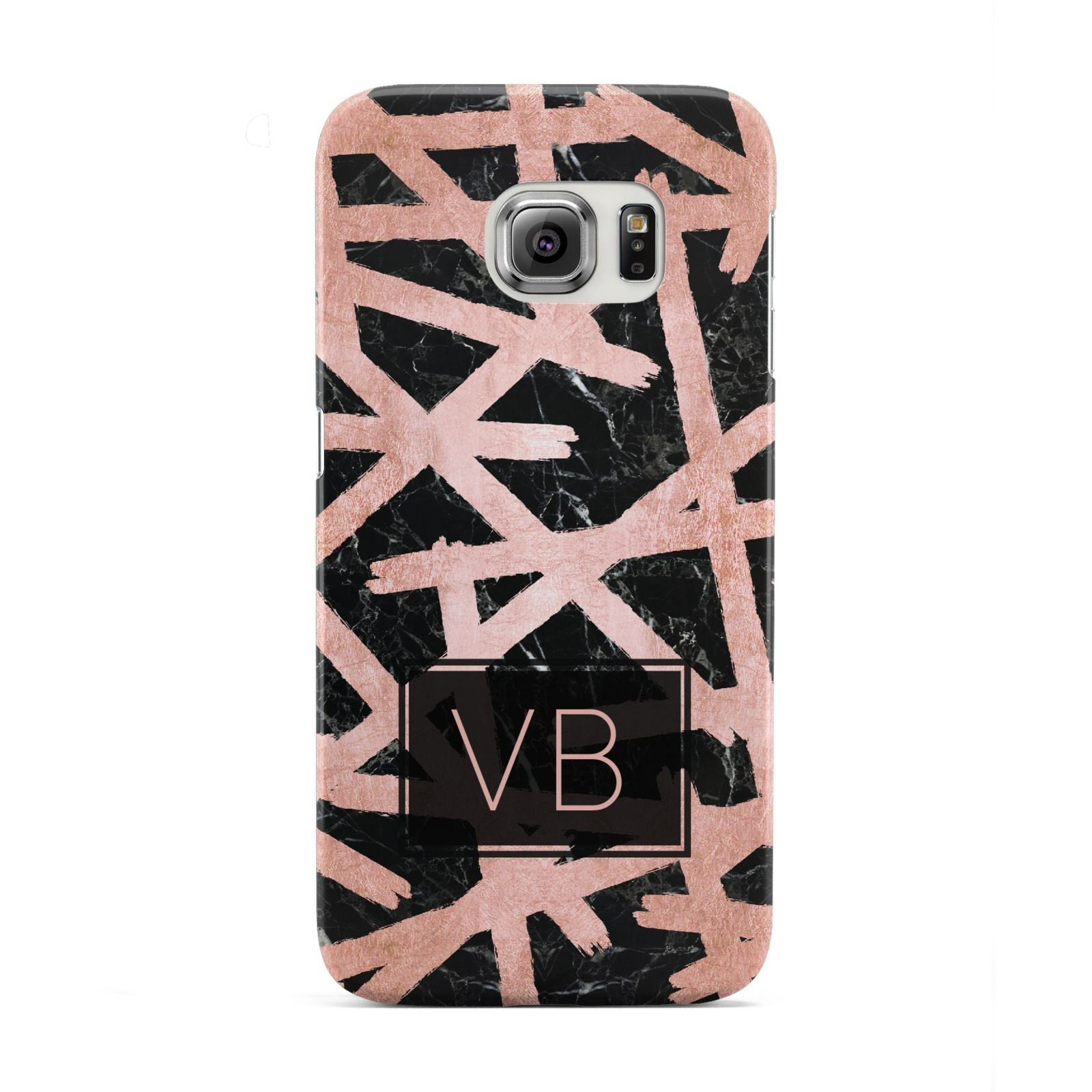 Personalised Rose Gold Effect Samsung Galaxy S6 Edge Case
