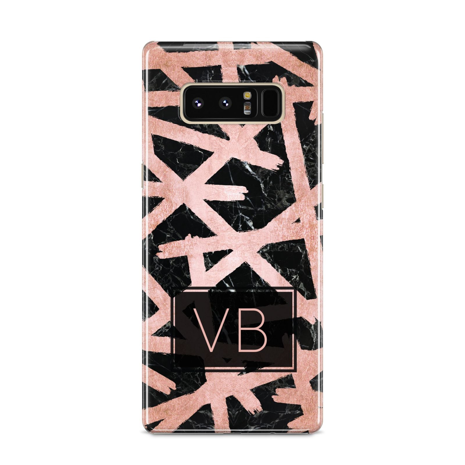 Personalised Rose Gold Effect Samsung Galaxy S8 Case