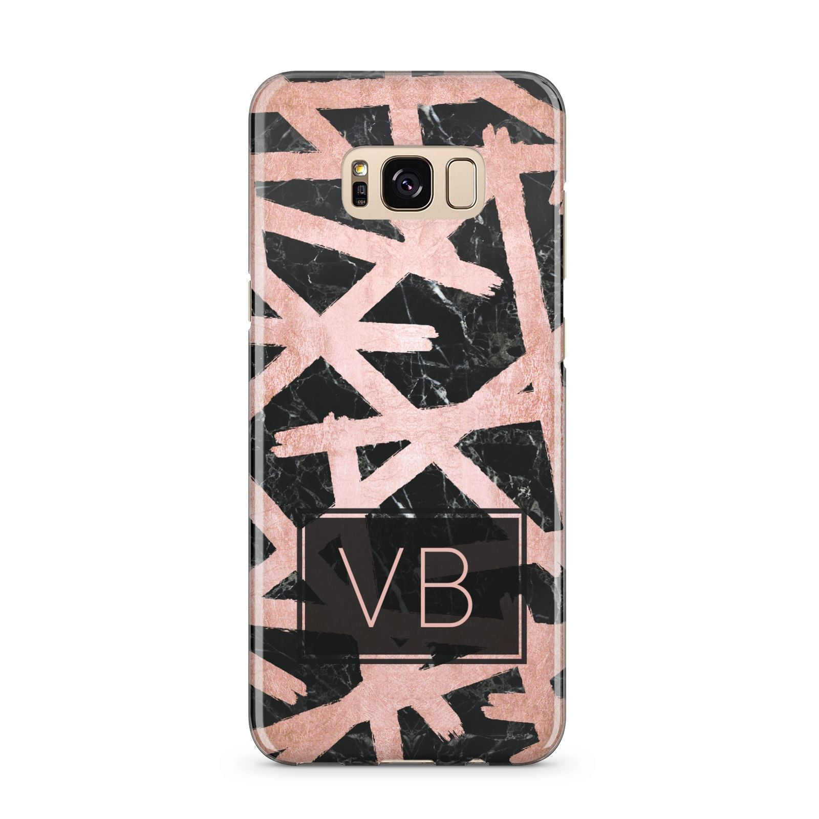 Personalised Rose Gold Effect Samsung Galaxy S8 Plus Case
