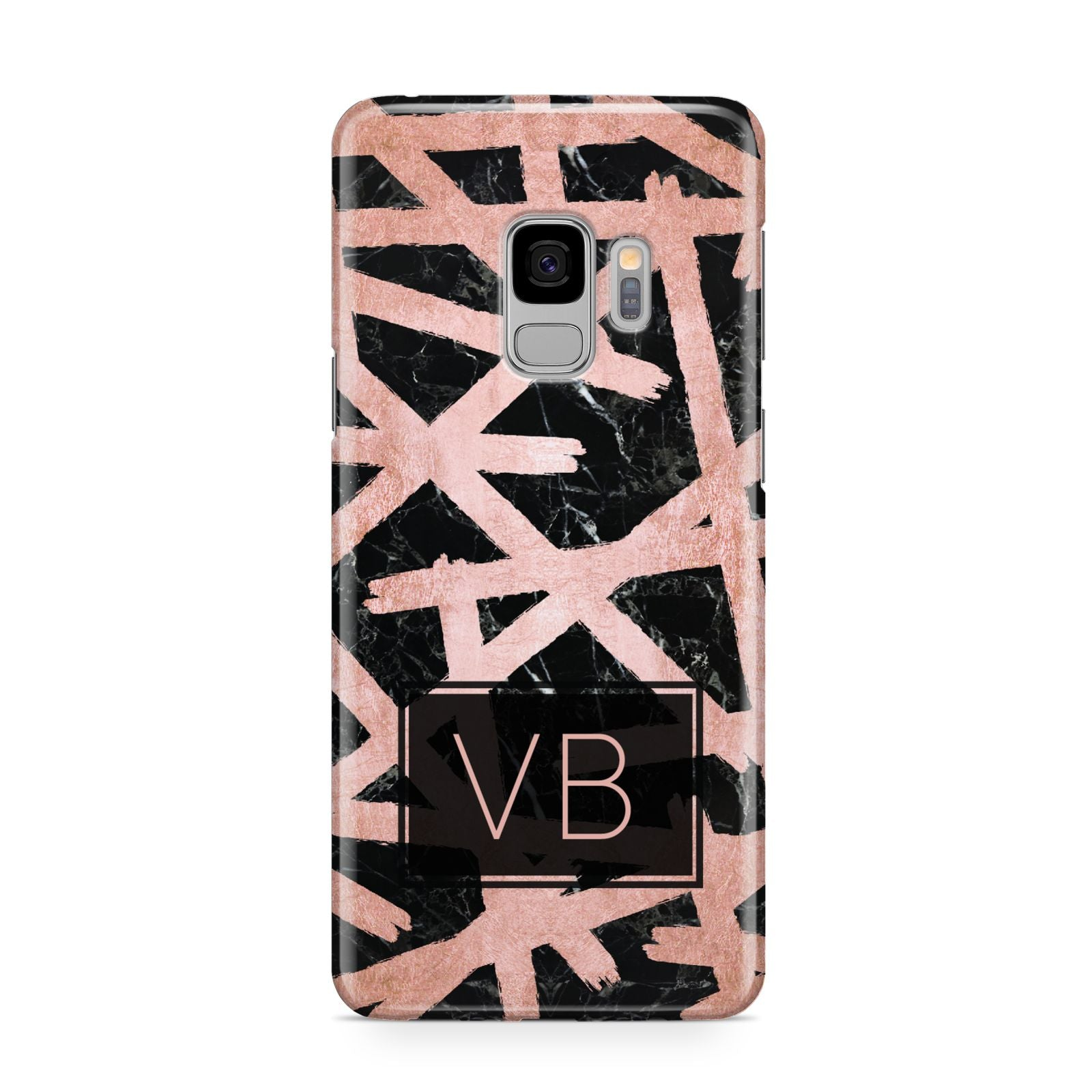 Personalised Rose Gold Effect Samsung Galaxy S9 Case