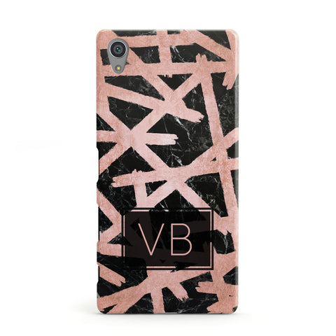 Personalised Rose Gold Effect Sony Xperia Case