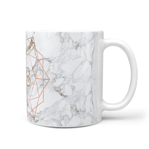 Personalised Rose Gold & Marble Initials Mug