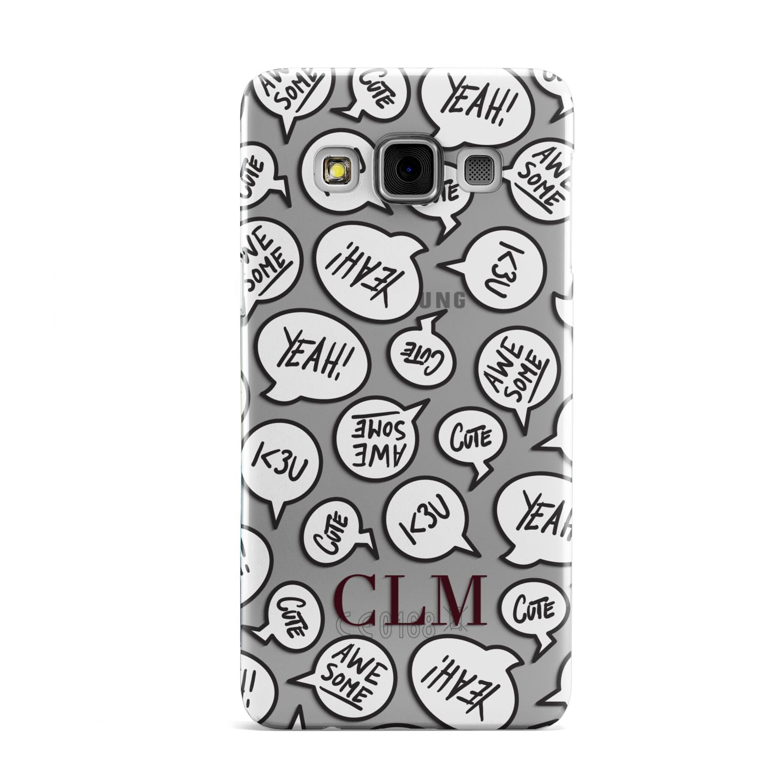 Personalised Sayings With Initials Samsung Galaxy A3 Case