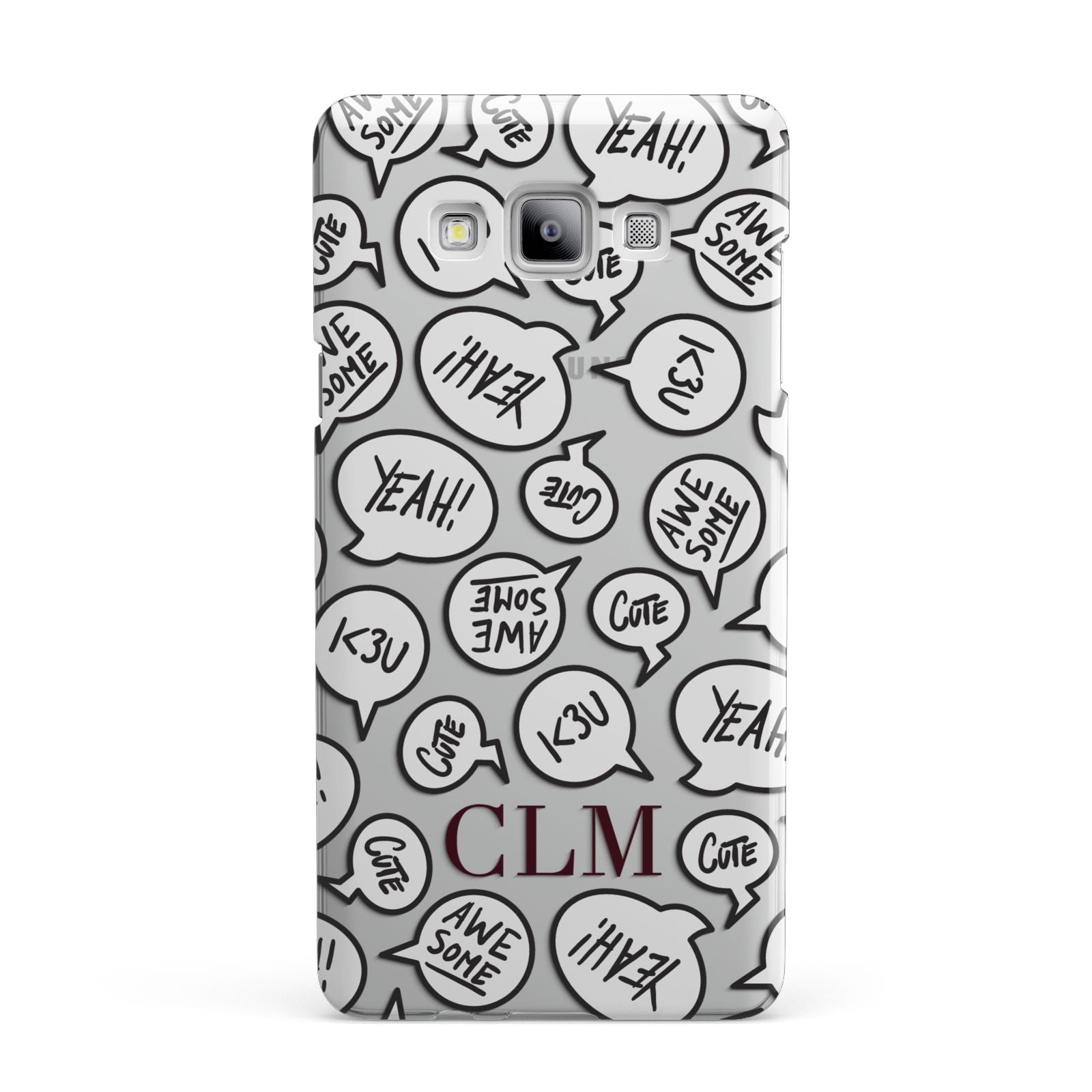Personalised Sayings With Initials Samsung Galaxy A7 2015 Case