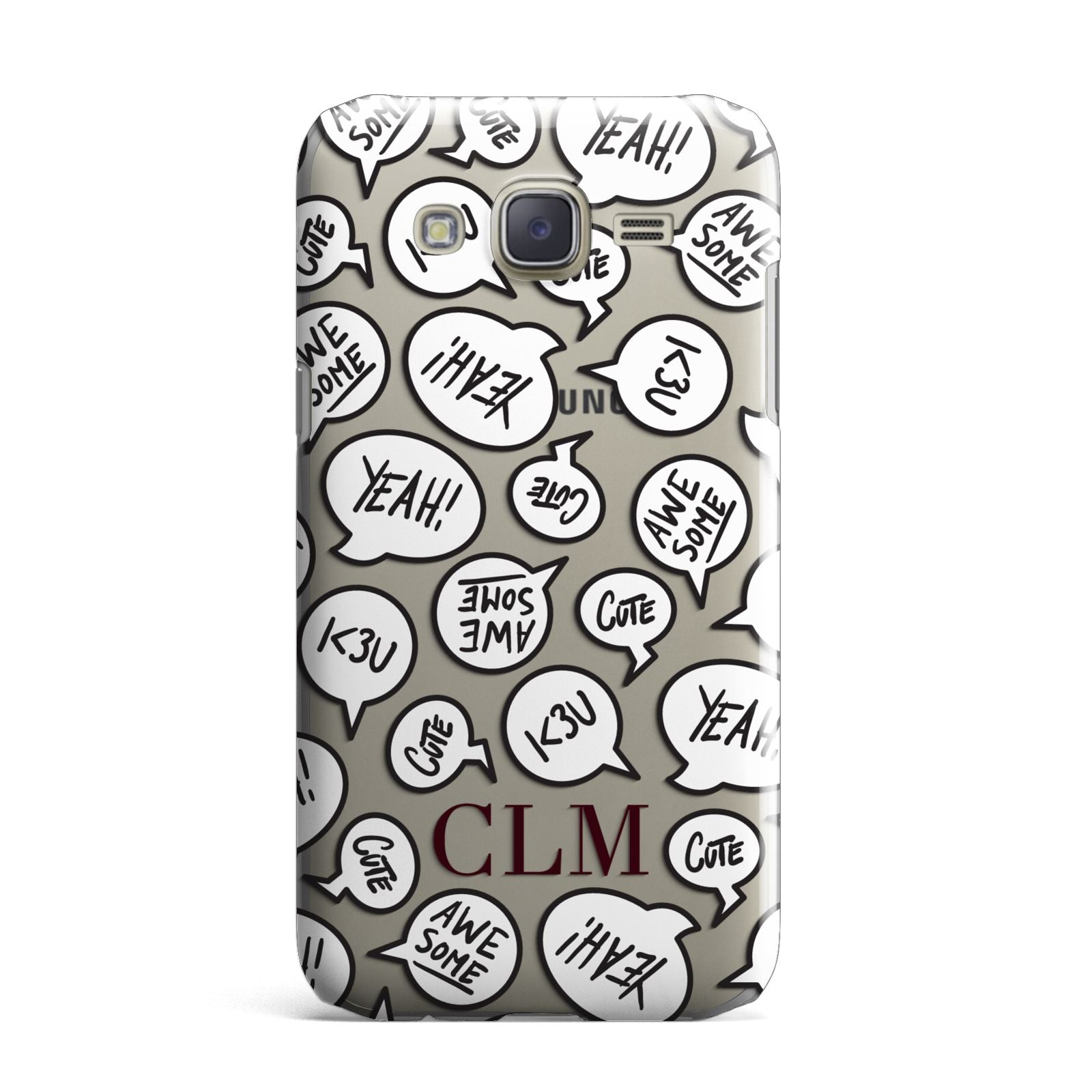 Personalised Sayings With Initials Samsung Galaxy J7 Case
