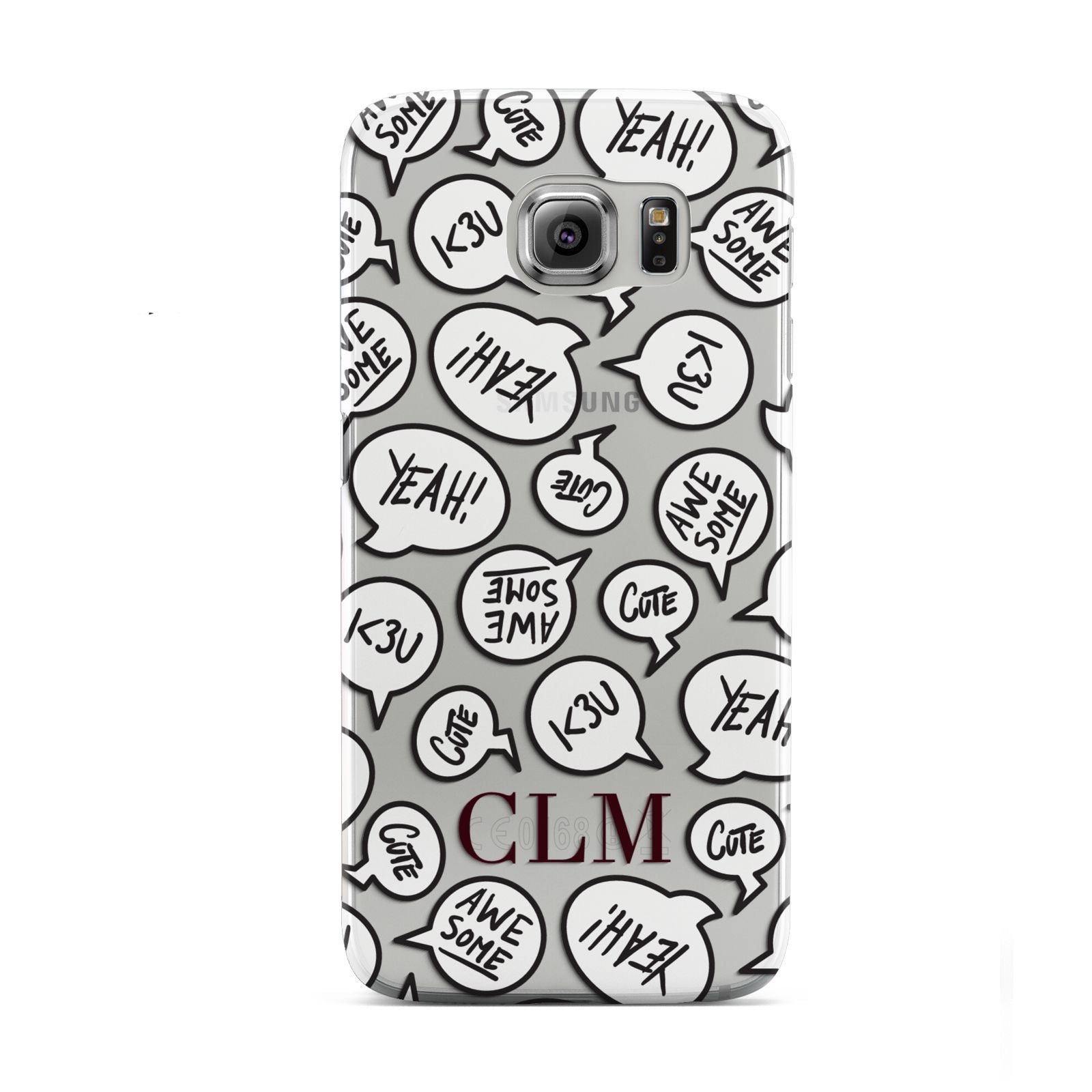 Personalised Sayings With Initials Samsung Galaxy S6 Case