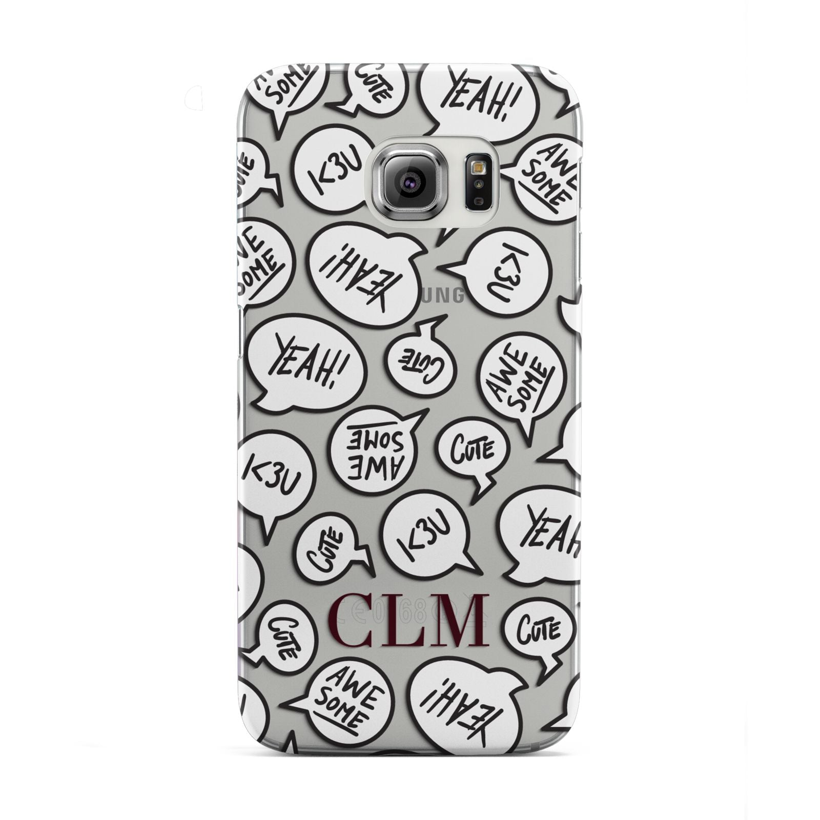 Personalised Sayings With Initials Samsung Galaxy S6 Edge Case