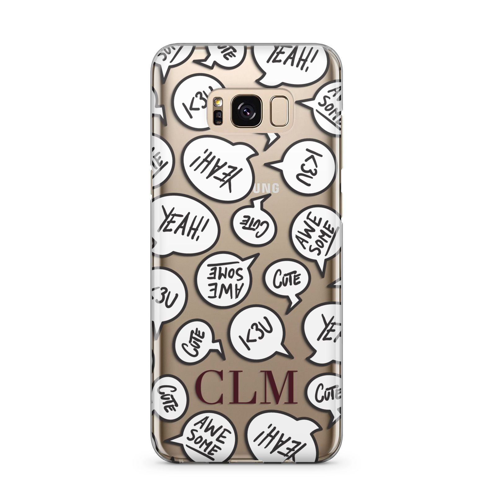 Personalised Sayings With Initials Samsung Galaxy S8 Plus Case