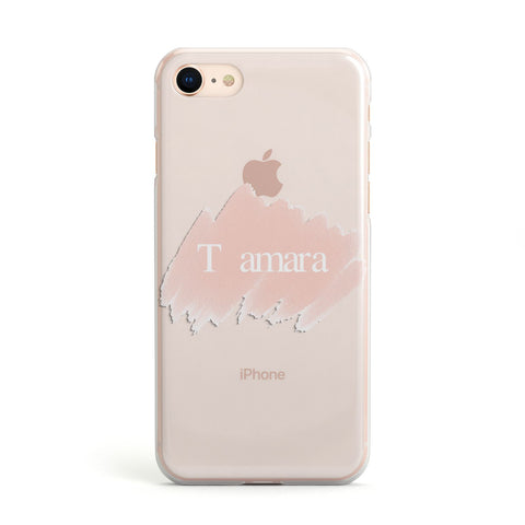 Personalised See Throiugh Clear & Name Apple iPhone Case