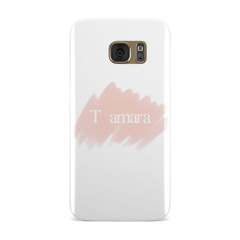 Personalised See Throiugh Clear & Name Samsung Galaxy Case