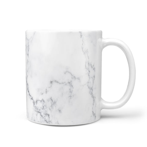 Personalised Signature Rose Gold Marble Mug