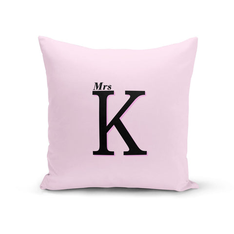 Personalised Single Initial Cushion