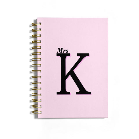 Personalised Single Initial Notebook