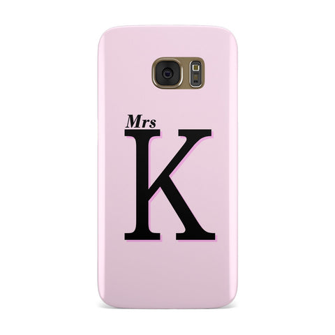 Personalised Single Initial Samsung Galaxy Case