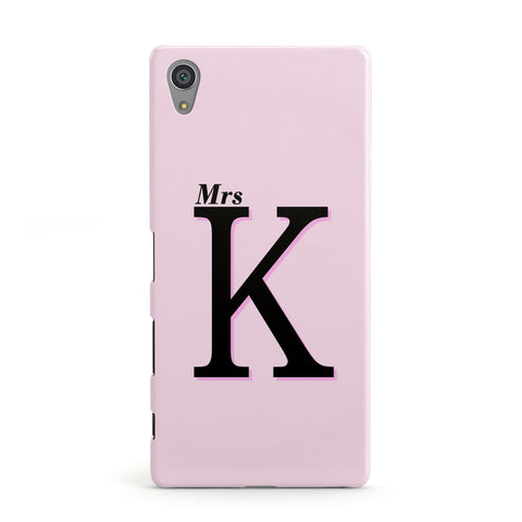 Personalised Single Initial Sony Case