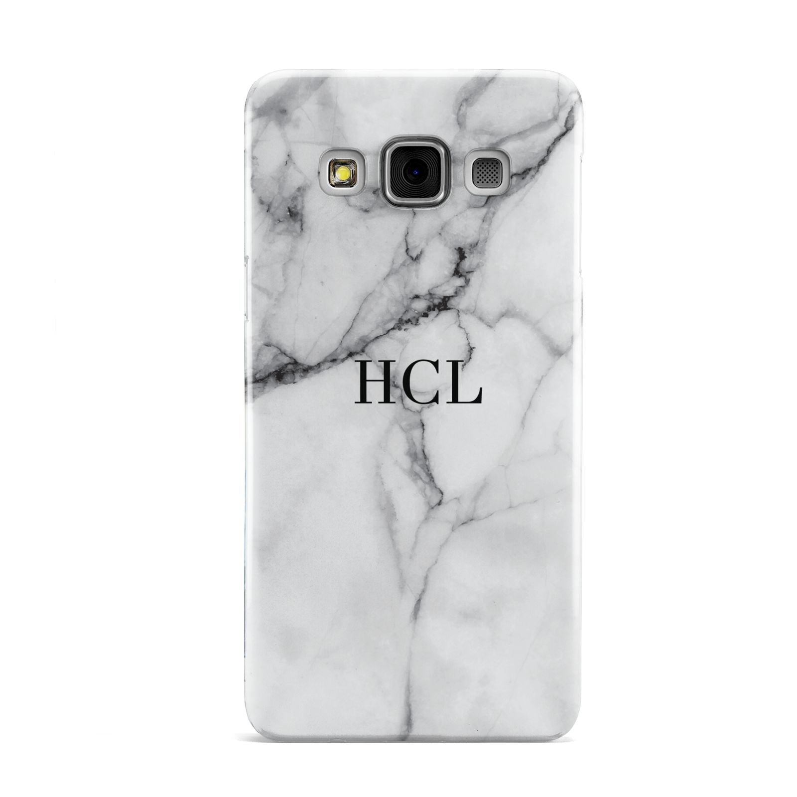 Personalised Small Marble Initials Custom Samsung Galaxy A3 Case